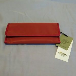Red Travel Clutch Wallet